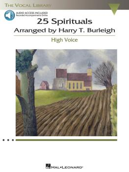 25 Spirituals Arranged by Harry T. Burleigh (With a CD of Recorded Pia (HL-00230110)