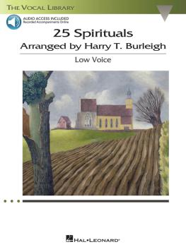25 Spirituals Arranged by Harry T. Burleigh (With a CD of Recorded Pia (HL-00230111)