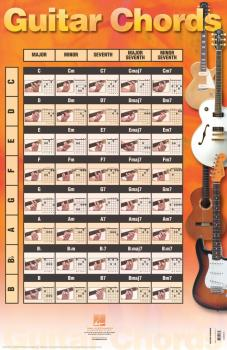 Guitar Chords Poster (22 inch. x 34 inch.) (HL-00695767)