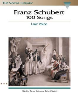 Franz Schubert - 100 Songs (The Vocal Library) (HL-00740028)