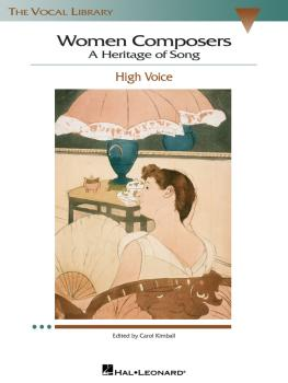 Women Composers - A Heritage of Song: The Vocal Library High Voice (HL-00740270)