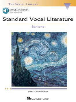 Standard Vocal Literature - An Introduction to Repertoire (Baritone) (HL-00740275)