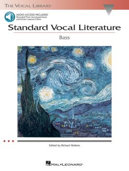 Standard Vocal Literature - An Introduction to Repertoire (Bass) (HL-00740276)