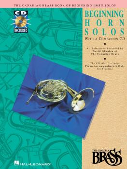 Canadian Brass Book of Beginning Horn Solos (Book/CD Pack) (HL-00841142)