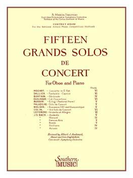 15 Grands Solos de Concert (Oboe) (HL-03770181)