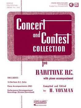 Concert and Contest Collection for Baritone B.C.: Solo Book with Onlin (HL-04470007)