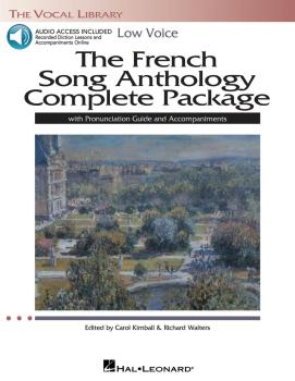 The French Song Anthology Complete Package - Low Voice: Book/Pronuncia (HL-00116918)