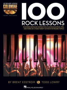 100 Rock Lessons: Keyboard Lesson Goldmine Series Book/2-CD Pack (HL-00122262)