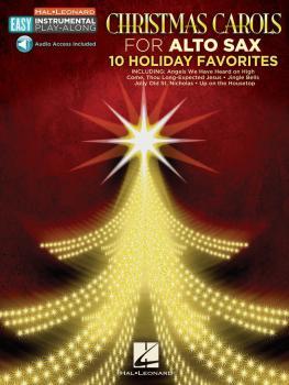 Christmas Carols: Alto Sax Easy Instrumental Play-Along Book with Onli (HL-00130365)