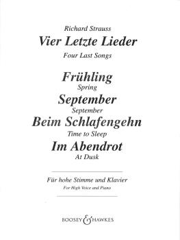 Vier Letzte Lieder (Four Last Songs) (HL-48009429)