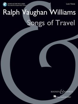 Songs of Travel: Low Voice New Edition with Online Audio of Piano Acco (HL-48023159)