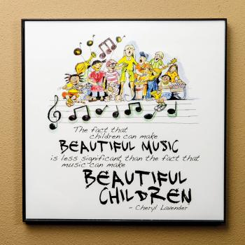 Beautiful Music, Beautiful Children Print (12x12 Framed Print) (HL-00142694)