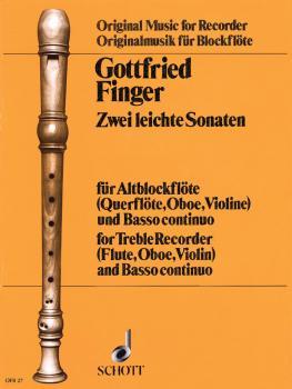 2 Easy Sonatas (for Treble Recorder Fl/Ob/Vn and Basso Continuo) (HL-49011317)