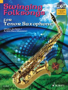 Swinging Folksongs Play-along For Tenor Saxophone Bk/cd With Piano Par (HL-49016930)