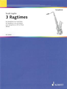 3 Ragtimes (for E flat Saxophone and Piano) (HL-49017555)