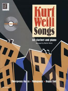 Kurt Weill Songs: Clarinet and Piano with CD of Performance and Play-A (HL-49019098)