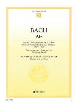 Air from Orchestral Suite No. 3 in D Major BWV 1068 (Arranged for Clar (HL-49019711)