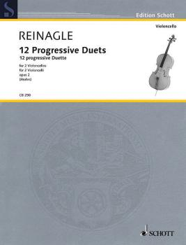 12 Progressive Duets, Op. 2: Two Cellos Performance Score (HL-49019728)