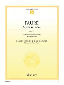 Après un rêve, Op. 7/1: Clarinet in B-flat and Piano (HL-49019792)