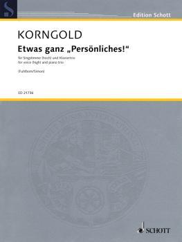 Etwas Ganz Persönliches!: High Voice and Piano Trio (HL-49019991)