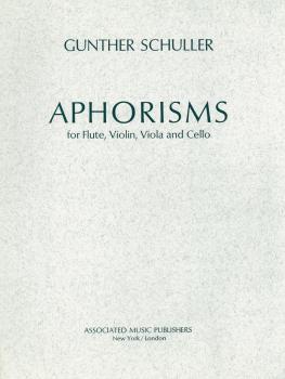 Aphorisms (Score and Parts) (HL-50226750)