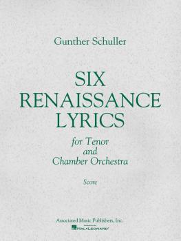 6 Renaissance Lyrics (1962) (Study Score) (HL-50238690)