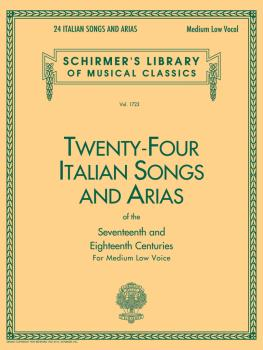 24 Italian Songs & Arias - Medium Low Voice (Book only) (Medium Low Vo (HL-50261150)