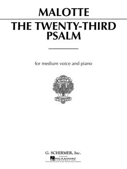 23rd Psalm (Medium Voice) (HL-50280370)