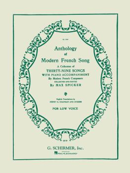 Anthology of Modern French Song (39 Songs) (Low Voice) (HL-50326050)