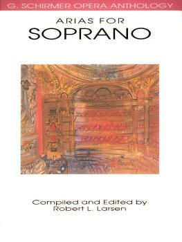 Arias for Soprano: G. Schirmer Opera Anthology (HL-50481097)