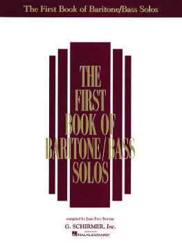 The First Book of Baritone/Bass Solos (HL-50481176)