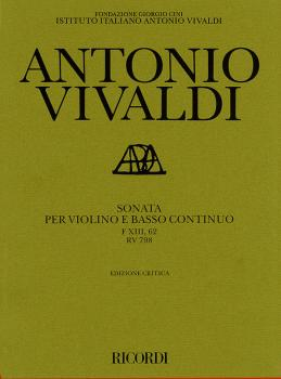 Sonata in G Major for Violin and Basso Continuo RV798: Critical Editio (HL-50483730)
