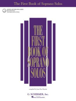 The First Book of Soprano Solos (Book/Online Audio) (HL-50483781)