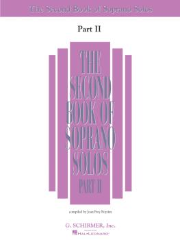 The Second Book of Soprano Solos Part II (Book Only) (HL-50485221)