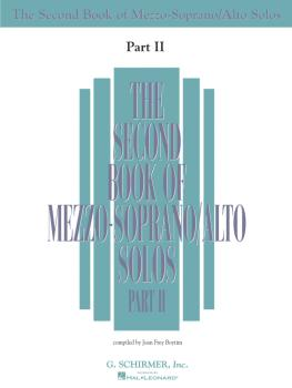 The Second Book of Mezzo-Soprano Solos Part II (Book Only) (HL-50485222)