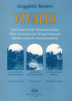 3 Concertos for String Orchestra - RV115, RV144, RV161 (Score and Part (HL-50485356)