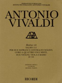 Beatus Vir RV598: Critical Edition Score (HL-50485493)