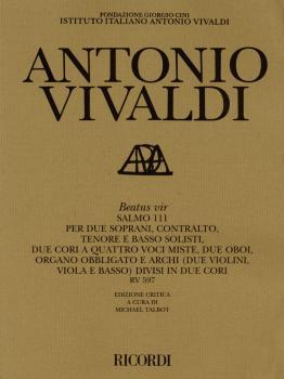 Beatus vir RV597: Critical Edition Score (HL-50485494)