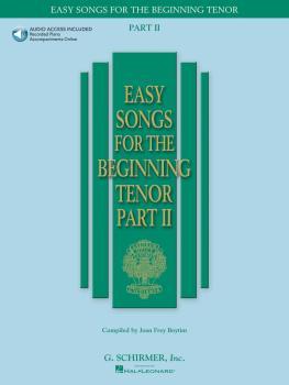 Easy Songs for the Beginning Tenor - Part II - Book/Online Audio (HL-50486244)