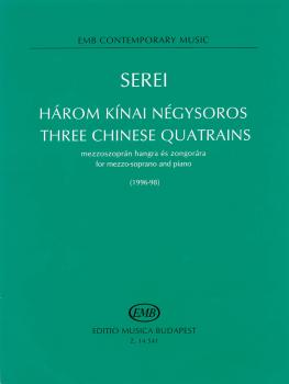 Three Chinese Quatrains (for Mezzo-Soprano and Piano) (HL-50486596)