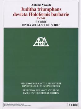 Juditha triumphans devicta Holofernis barbarie, RV 644: Ricordi Opera  (HL-50490545)