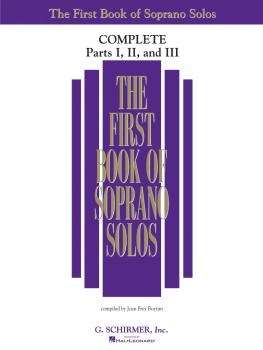 The First Book of Solos Complete - Parts I, II and III (Soprano) (HL-50498741)