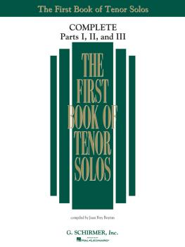 The First Book of Solos Complete - Parts I, II and III (Tenor) (HL-50498743)