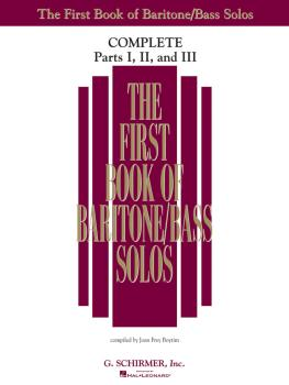The First Book of Solos Complete - Parts I, II and III (Baritone/Bass) (HL-50498744)