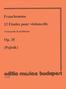 12 Etudes, Op. 35 (Violoncello II ad lib.) (Violoncello Solo) (HL-50510661)