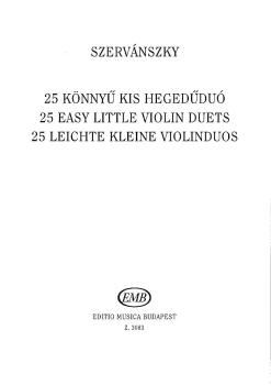25 Easy Small Duets-2 Vln (HL-50510750)