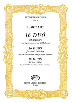 16 Duos for two violins (a violin ensemble or 2 clarinets) (HL-50510875)