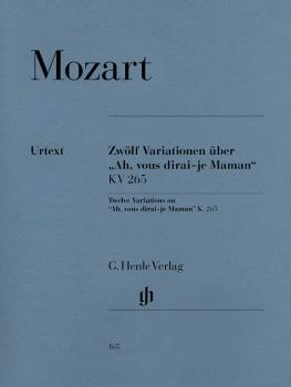 12 Variations on Ah Vous Dirai-Je, Maman K265 (300e) (Piano Solo) (HL-51480165)