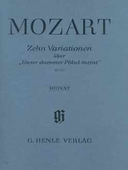 10 Variations on Unser Dummer Pöbel Meint K455 (Piano Solo) (HL-51480189)
