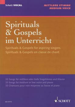 Spirituals & Gospels for Aspiring Singers: 33 Songs for Medium/Low Voi (HL-49044538)